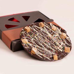 پیتزا شکلات کاراملی