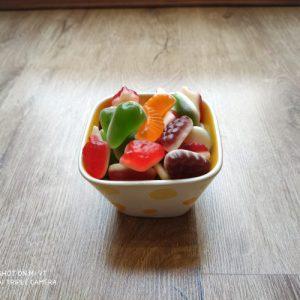 پاستیل میوه ای دو رنگ ببتو
