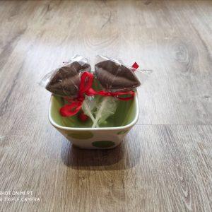 شکلات چوبی طرح لب