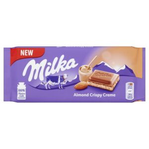 شکلات میلکا کرم بادام