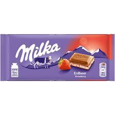 شکلات میلکا توت فرنگی