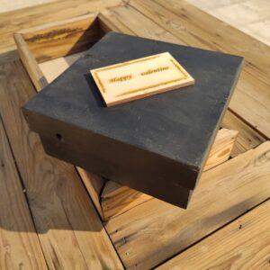 جعبه چوب طبیعی